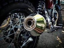 A tubulação de exaustão da motocicleta fotografia de stock