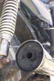 Tubulação de exaustão da motocicleta Imagem de Stock
