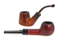 Tubulação de fumo de envelhecimento Fotografia de Stock Royalty Free