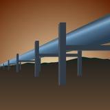 Tubulação de gás ilustração do vetor