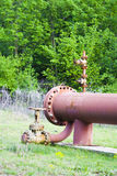 Tubulação de gás Fotografia de Stock Royalty Free
