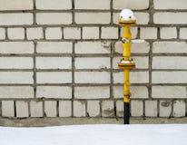 Tubulação de gás amarela Imagens de Stock Royalty Free