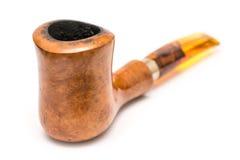 Tubulação de madeira do cigarro Fotos de Stock