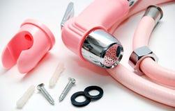 Tubulação de mangueira cor-de-rosa Fotografia de Stock Royalty Free