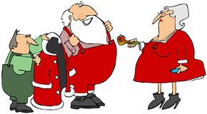 Tubulação do potenciômetro de Santa Foto de Stock Royalty Free