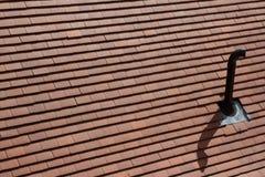 Tubulação do respiradouro do telhado. Foto de Stock