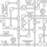 tubulação do teste padrão ilustração do vetor