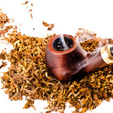Tubulação e tabaco foto de stock