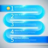 Tubulação lustrosa azul com 5 opções Fotografia de Stock Royalty Free