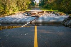 Tubulação na estrada Imagem de Stock Royalty Free