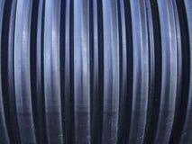 Tubulação ondulada preta Fotografia de Stock