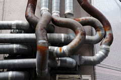 Tubulação oxidada imagem de stock royalty free