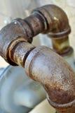Tubulação oxidada Fotografia de Stock