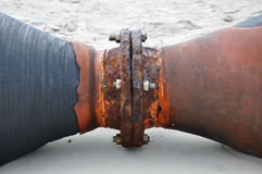 tubulação oxidado Fotos de archivo libres de regalías