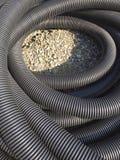 Tubulação preta rolada Imagem de Stock