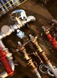 Tubulação química Fotografia de Stock Royalty Free