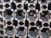 Tubulação retangular do metal Fotografia de Stock