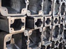 Tubulação retangular do metal Imagem de Stock