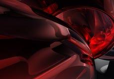 Tubulações 01 do vermelho Ilustração Royalty Free
