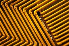 Tubulações amarelas fotografia de stock royalty free