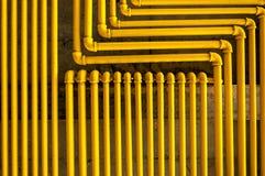 Tubulações amarelas foto de stock royalty free
