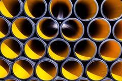 Tubulações amarelas Imagens de Stock