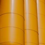 Tubulações arquitetónicas do amarelo do detalhe da biblioteca Rotterdam Imagem de Stock Royalty Free