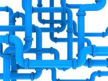 Tubulações azuis ilustração stock