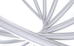 Tubulações curvadas do cromo Imagem de Stock