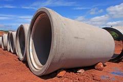 Tubulações da drenagem Fotografia de Stock