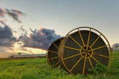 Tubulações da irrigação Fotografia de Stock