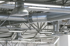 Tubulações da ventilação Imagens de Stock