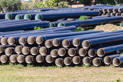 Tubulações de água da construção Imagem de Stock