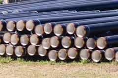 Tubulações de água da construção Fotos de Stock