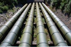 Tubulações de água gigantescas fotografia de stock royalty free