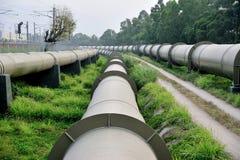 Tubulações de água longas Imagem de Stock