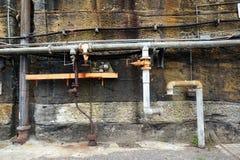 tubulações de água velhas imagem de stock royalty free