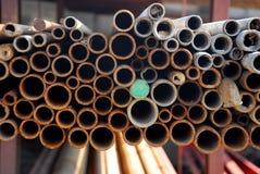 Tubulações de aço Fotografia de Stock