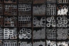 Tubulações de aço foto de stock