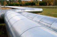 Tubulações de aço de grande diâmetro Fotos de Stock
