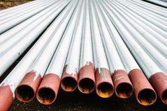 Tubulações de aço oxidadas fotografia de stock royalty free