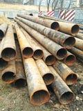 Tubulações de aço velhas foto de stock royalty free