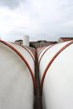 Tubulações de aquecimento industriais Fotografia de Stock