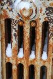 Tubulações de calor congeladas Fotografia de Stock