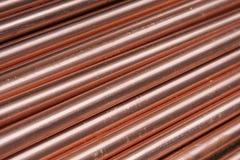 Tubulações de cobre Fotos de Stock