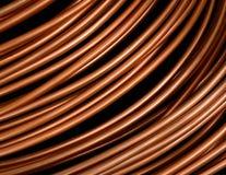 Tubulações de cobre fotografia de stock
