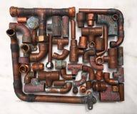 Tubulações de cobre Imagem de Stock Royalty Free