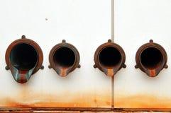 Tubulações de drenagem fotografia de stock royalty free