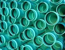 Tubulações de esgoto do PVC Fotografia de Stock Royalty Free
