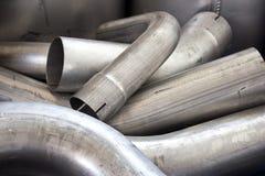 Tubulações de exaustão Foto de Stock